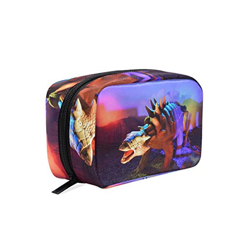 Cosmetic Makeup Bag Pouch Animal History Dinosaur Clutch