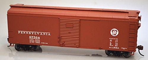 Class X31a 40' Single-Door Flush-Roof Boxcar - Kit -- Pennsylvania Railroad #67558 (Tuscan, Circle Keystone Logo) (Freight Roof Car)