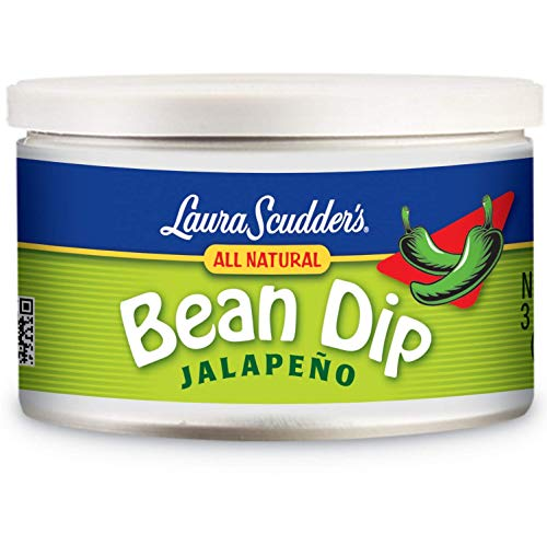 Dip Bean Fritos - Laura Scudders All Natural Jalapeno Bean Dip 9oz. (Pack of 12)