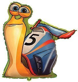 """one 30"""" TURBO party BALLOON new FAVOR gift DECOR dreamworks SNAIL ..."""