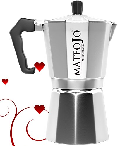 Stovetop Espresso Maker - Italian Moka Pot - Cafetera - Cuban Coffee Machine - 6 Cup by MateoJo … by MateoJo