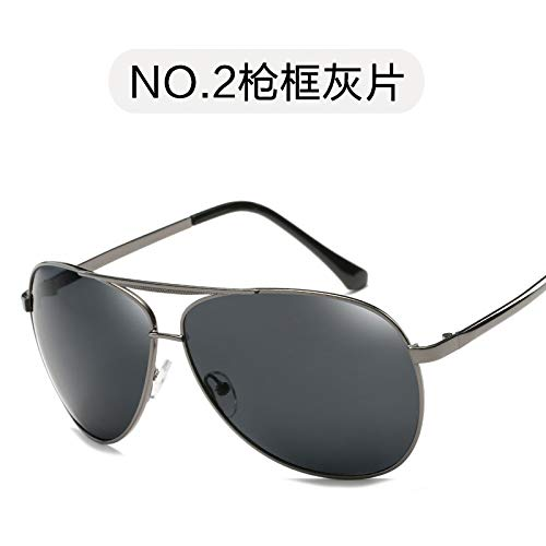 Hombres de Burenqiq Sol Gafas té Espejo Sol de del los Rebanada Gafas Gafas polarizadas de de del Sol Gun del polarizadas del Moda té Marco Vintage del gray frame del piece Metal qrwTaqE8x
