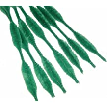 Grass Green Bumpy Chenille Stems 72 Total (6 Bags of 12pc)