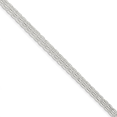 Beaded Lagos Necklace - 925 Sterling Silver 4 Strand Bracelet 7.25 Inch Chain Fancy Fine Jewelry For Women Gift Set