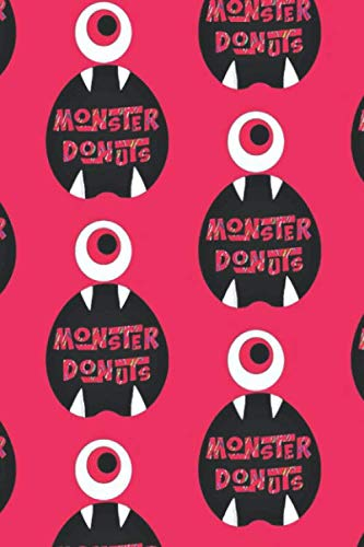 Monster Donuts: Color Notebook, Journal for Writing, Size 6