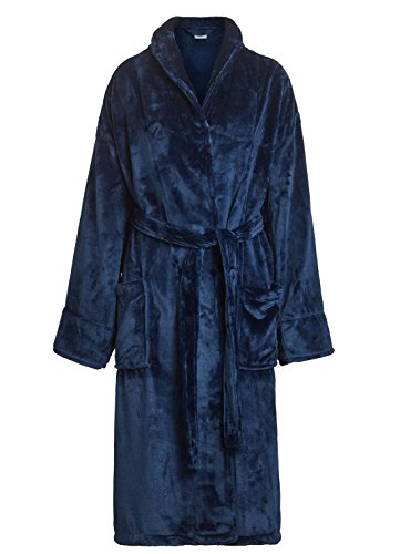 Tahoe Microfleece Shawl Collar Robe Women's and Men's Bathrobe Unisex Bath Robes (One Size, - Bathrobe Womens Microfleece