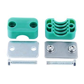 Hydraulikrohrschelle Rohrschelle Schlauchschelle mit Anschwei/ßplatte 35 mm