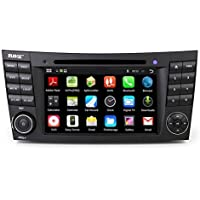 Rupse Android 4.4.4 Car DVD GPS Navigation For Mercedes Benz E-Class 2002 2003 2004 2005 2006 2007 2008 W211 with 7 inch HD Car DVD Player GPS Navigation Stereo
