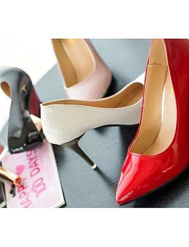GGX/Damen Schuhe Patent Leder Sommer Heels Heels Casual Stiletto Heel andere schwarz/pink/rot/weiß black-us8 / eu39 / uk6 / cn39