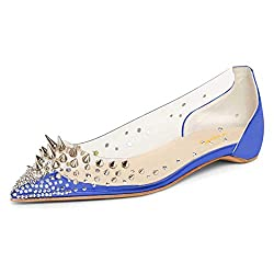 Spikes Riveted Rhinestones Sequins Dress Shoes