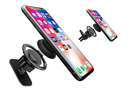 [2Pack] Car Mount for Pop Users - 360° Rotation Air Vent Pop Out Stand Car Mount with Adjustable Switch Lock and Adhesive Mount Compatible with all Phones with Pop Grips