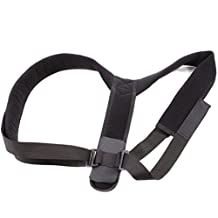 Upper Back Posture Corrector Brace and Clavicle Support - Hunched Back and Rounded Shoulders Solution - Small Black