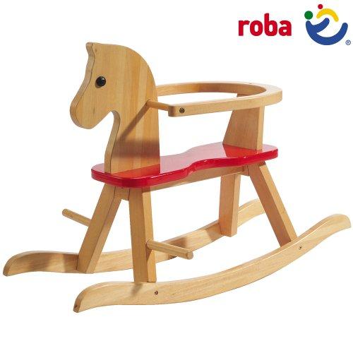 Klassisches Schaukelpferd Mit Abnehmbarem Schutzring 55x43x82cm Schaukel Pferd Holz Babyschaukel Schaukelwippe Schaukeltier