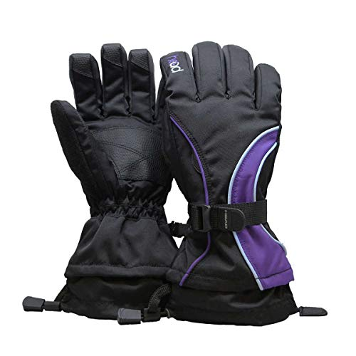 HEAD Junior Ski Glove (L, Purple)