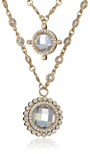 "Freida Rothman Double Layer Charm Necklace, 18"""