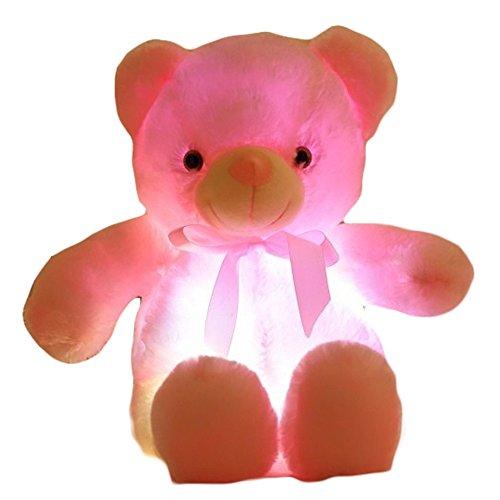 Dolls Flashing Plush Toy Stuffed Led Light Christmas Gift for Kids Teddy Bear 20-Inch.