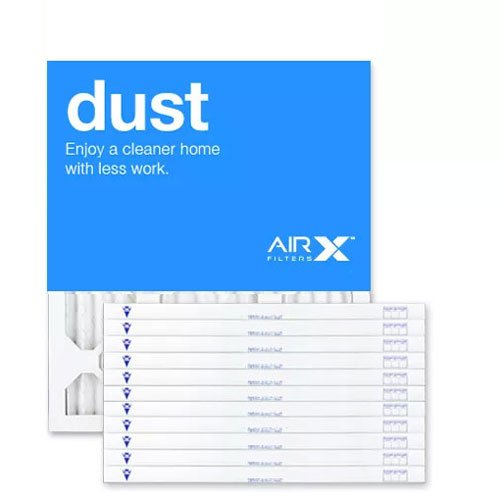 AIRx Filters Dust 10x10x1 Air Filter MERV 8 AC Furnace Pleated Air Filter Replacement Box of 12, Made in the USA by AIRx Filters