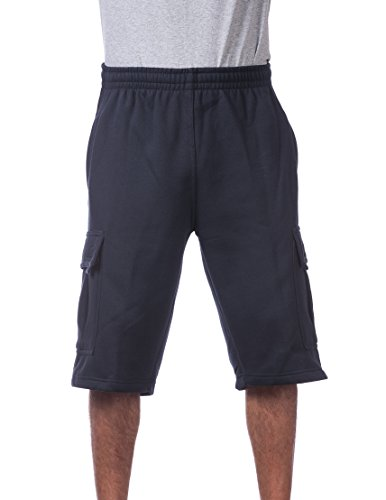 Pro Club Men's Fleece Cargo Short Large Navy ()