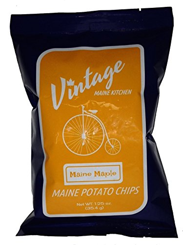 Spectacular Chocolate Chip - Maine Maple Sea Salt Potato Chips - 12 Pack of 1.25 oz bags
