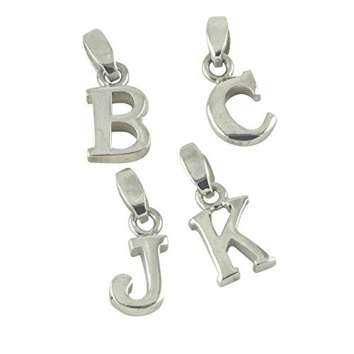 Hanukkah Blocks (apop nyc Sterling Silver Block Initial Letter Pendant, Z)
