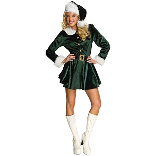 Fancy Dress Costumes For Christmas (CHSGJY Elf Costume for Women Adult Santas Helper Christmas Outfit Fancy Dress Medium)