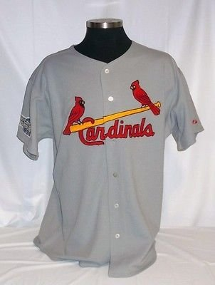 St. Louis Cardinals Authentic Majestic Road Jersey w/ 2004 World Series Patch A 2004 World Series Patch