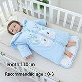 RubyShopUU Newborn Winter Thickening Sleeping Bag Cotton Baby Anti-Kick Detachable Sleeves Sleep Sack Warm Infant Unisex Sleeping Bag