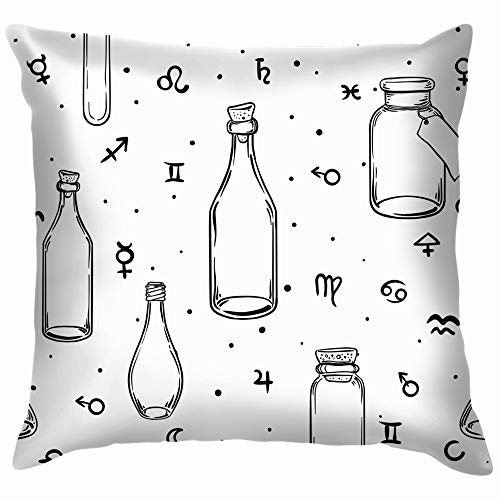 Mystic Magic Religion Occultism Esoteric Alchemist Cotton Linen Home Decorative Throw Pillow Case Cushion Cover for Sofa Couch 20X20 Inch for $<!--$8.49-->