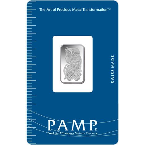 PAMP Suisse 2.5 Gram .9999 Silver Bar - Fortuna With Assay Certificate