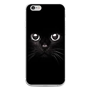 iPhone 6/6S Case, EUNOMIA Black Cat Face Eyes Clear Frame Slim Hard Hybrid Armor Back Bumper Case Cover for iPhone 6/6S