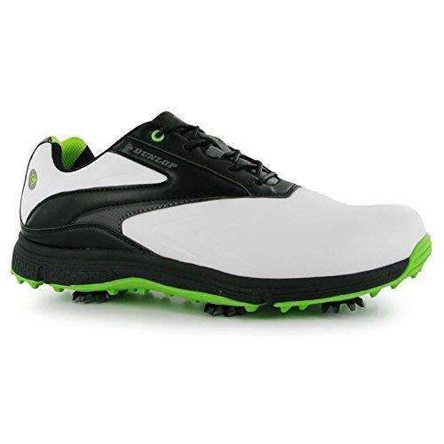 Zapatos de golf de piel para hombre, blanco