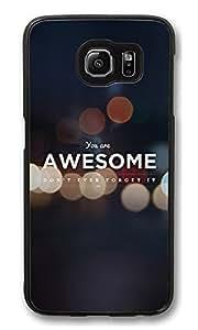 S6Funda, Awesome Cita Creatividad Ultra Fit Negro Bumper–Funda para Galaxy S6personalizable duro PC, Samsung Galaxy S6
