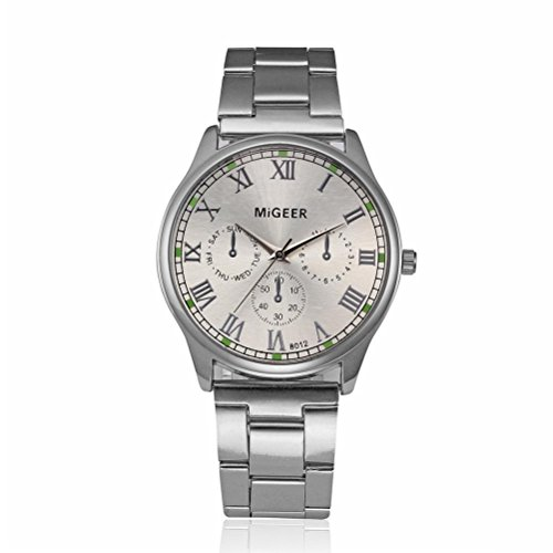 Datejust Dial - FAPIZI Clearance✿Men's Datejust Quartz Dress Watch With Arabic Numbers Analog Dial Stainless Steel Bracelet (White)