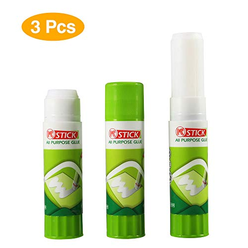 3D Printer Glue Sticks, Aokin 3 Pcs Solid Stickers for ABS, PLA, and PETG Filament on 3D Printer Platform Heated Bed