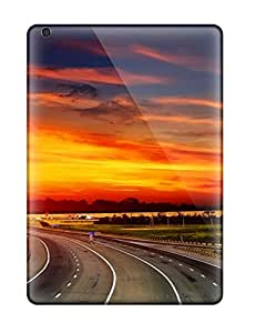 Tpu Case Cover For Ipad Air Strong Protect Case - Sunset High Way Scenic Amp Digital Design