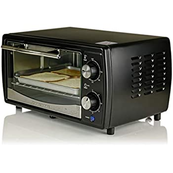 Ovente electric toaster oven with timer knob - Cool touch exterior convection toaster oven ...