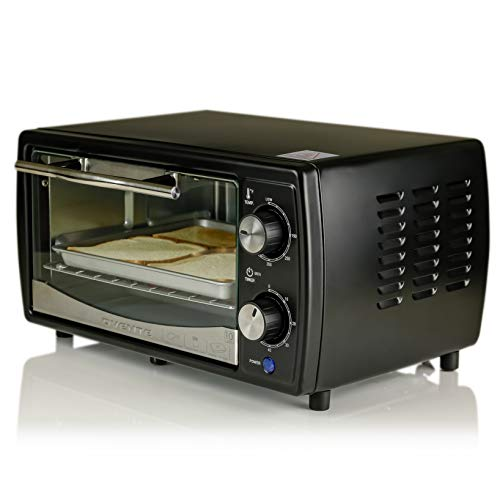 Ovente electric toaster oven with timer knob and tempered - Cool touch exterior convection toaster oven ...
