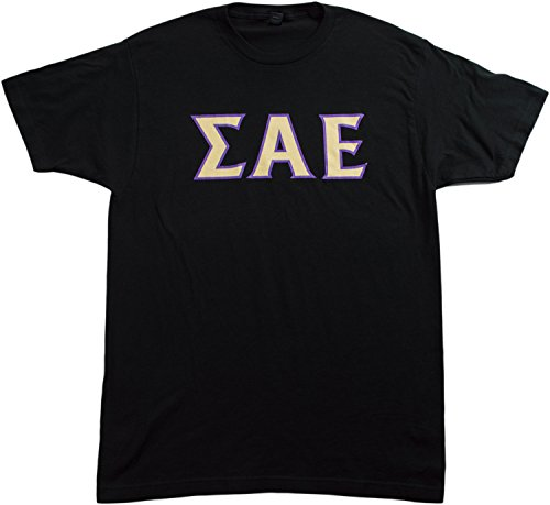 JTshirt.com-19875-Sigma Alpha Epsilon (SAE) | Licensed Unisex Fitted Men\'s Black T-shirt-B00M5D0I3Y-T Shirt Design