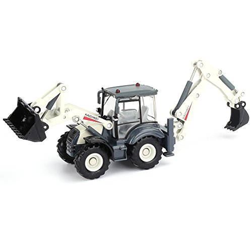 KDW 1/50 Scale Diecast Backhoe Loader Construction Vehicle Truck Toys for Kids