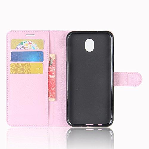 Funda Samsung Galaxy J7(2017),Manyip Caja del teléfono del cuero,Protector de Pantalla de Slim Case Estilo Billetera con Ranuras para Tarjetas, Soporte Plegable, Cierre Magnético(JFC8-15) B