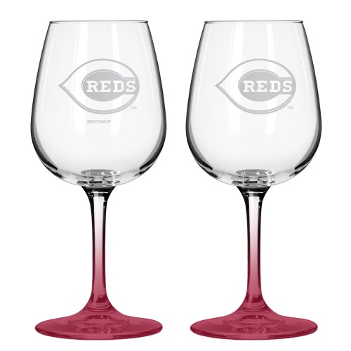 MLB Satin Etch 2-Ounce Wine Glass (Pack of 2) (Mlb Glassware)
