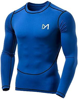 Camisetas de Fitness Compresi/ón Ropa Deportiva Manga Larga Hombre Apretada Secado R/ápido para Running Fitness Entrenamiento Yoga
