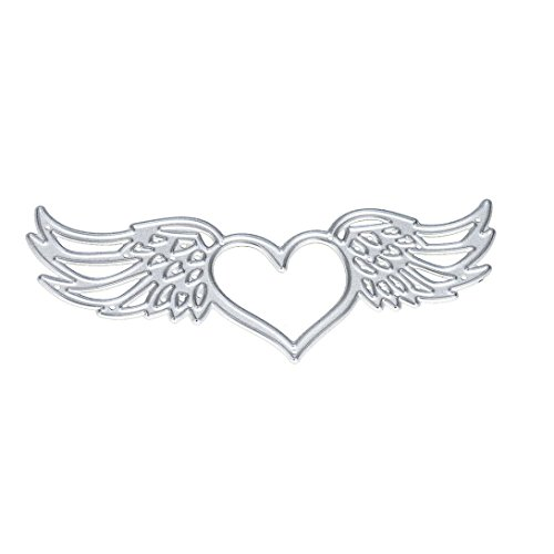 Gold Die Cut Wings (Staron New Metal Cutting Dies Stencil Template,Wings Die Cuts Embossing Stencil Mould For DIY Handmade Card Scrapbooking Album Paper Craft (C))