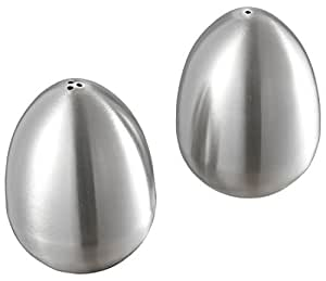 Visol Products Giles Stainless Steel Salt and Pepper Shaker Set, Silver by Visol