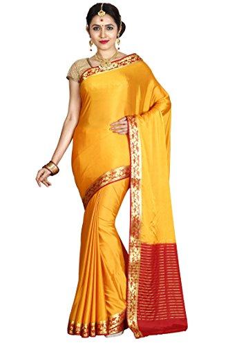 arars Crepe Silk Saree Mysore Silk Saree ( CRP02 MUSTARD )