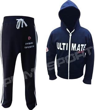 Prime Sports - Sudadera con capucha para hombre, con cremallera completa, pantalones y parte superior de forro polar: Amazon.es: Deportes y aire libre