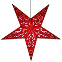 Star Light Peacock Star Lantern in Red by Whirled Planet