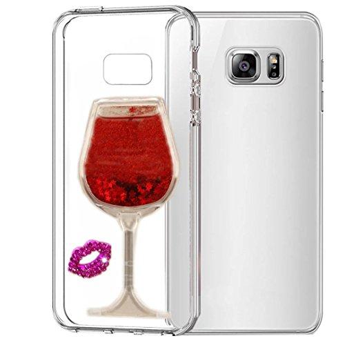 Nokia Lumia 630 Case, QKKE [Wine Glass Lips] Case Glitter 3D Handmade With Ultra Thin Slim Fit Soft TPU Silicone Anti-scrtach Case For Nokia Lumia 630 (Wine Glass Lips/Red) (Nokia Lumia 630 Transparent Case)
