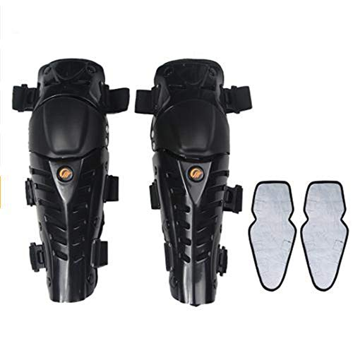 - Motorcycle Knee Pads Motocross Off-Road Racing Knee Protector Shin Guards Outdoor Full Protection Gear Black- Winter