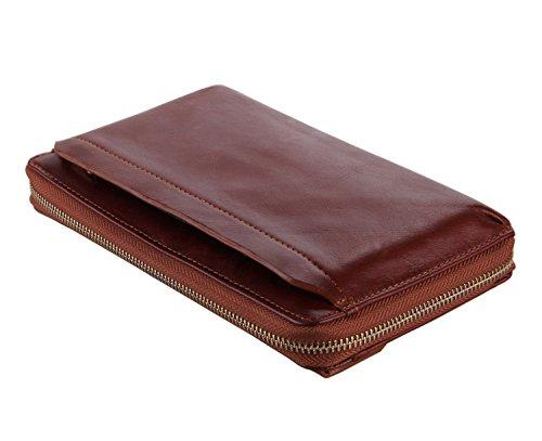 Leather 2Archer Genda Brown Handbag Organizer Coin Wallet Holder Purse Clutch Card ZRqaFqw